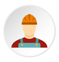 Builder icon circle vector