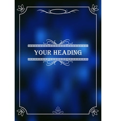 Business design of a flyer booklet brochures vector image