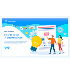 business site template how to write plan vector image