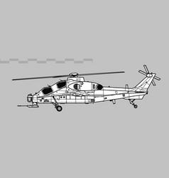 Caic z-10 wz-10 fierce thunderbolt vector