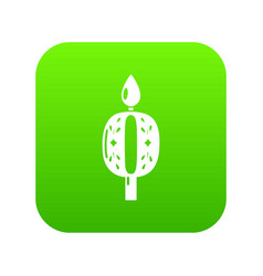 candle numbering icon simple black style vector image
