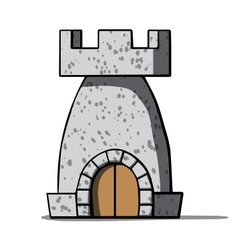 Cartoon medieval tower vector image