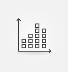 chart outline concept icon vector image