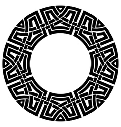 Circle celtic frame vector