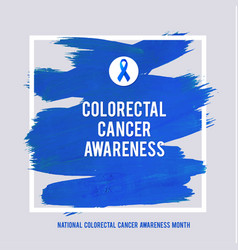 Clorectal cancer awareness creative grey and blue vector