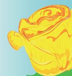 Close up rose vector