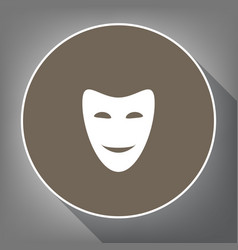 comedy theatrical masks white icon on vector image