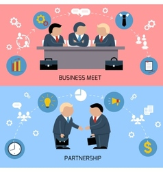 Concept of business meeting teamwork partnership vector