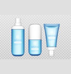 Cosmetic tubes mock up beauty cosmetics bottles vector