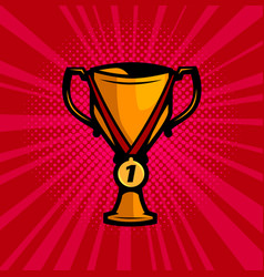 cup winner and gold medal success achievement vector image