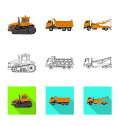 Design of build and construction sign vector