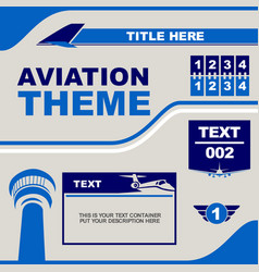 Design template aviation theme vector