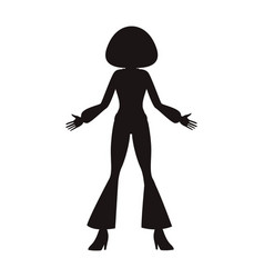 disco woman silhouette vector image