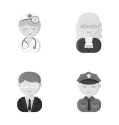 Doctor judge business policeprofession set vector