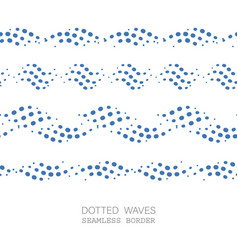 dotted wave seamless pattern vector image