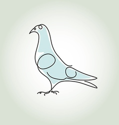Dove in minimal line style vector