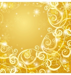 Elegant christmas gold background vector