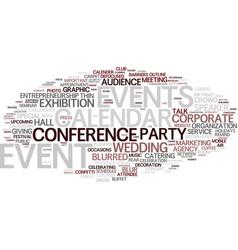 Events word cloud concept vector