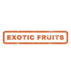 Exotic fruits rubber stamp vector