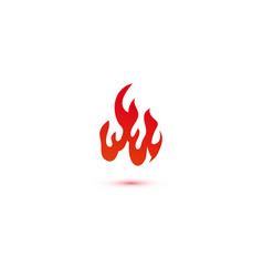 fire and flames logo graphic template vector image