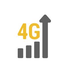 Flat 4g gsm signal strength indicator vector