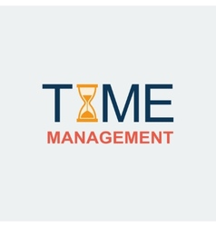 Flat Time Management Background vector