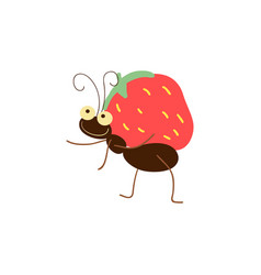 Funny wood ant cartoon vector