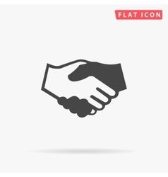 Handshake simple flat icon vector