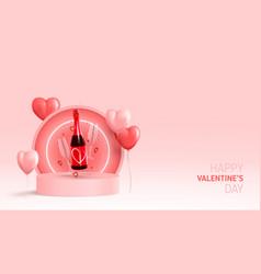 Happy valentines dayt card vector