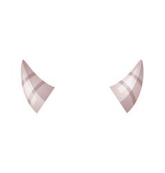 horns cartoon vector image