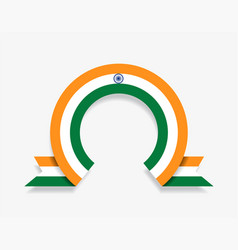 indian flag rounded abstract background vector image