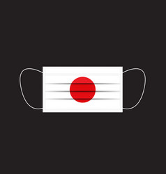 japan flag printed on a mask vector image