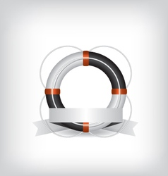 Life Buoy and ribbon vector