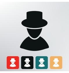 Man silhouette icon vector image