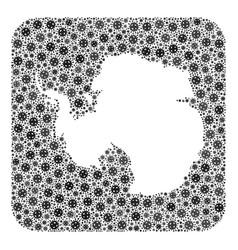 Map antarctica - flu virus collage with empty vector