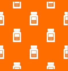 Medicine bottle pattern seamless vector