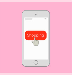 Mobile shopping vector