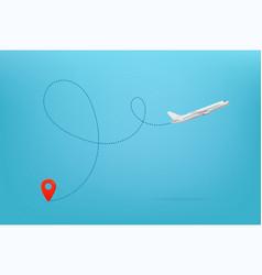 modern aircraft path summer travel vector image