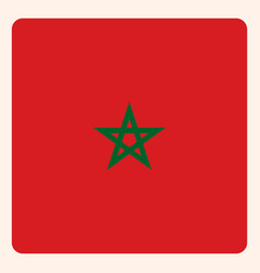 Morocco square flag button social media vector