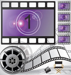 Movie countdown and reel vector