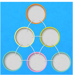 Multi-colored circles on a blue background vector