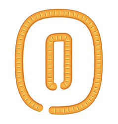 number zero bread icon cartoon style vector image