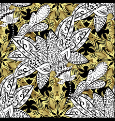 Oriental style arabesques white black and neutral vector