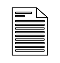 Paper document file isolated icon vector