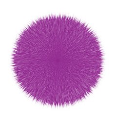 purple fluffy hair ball vector image