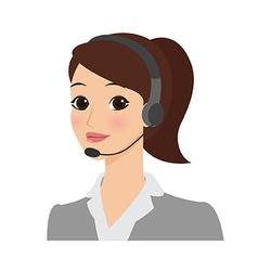 Receptionist girl vector