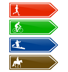 Recreation board signs vector