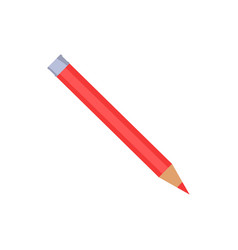 red pencil with silver end vector image