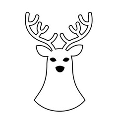 Reindeer christmas silhouette isolated icon vector