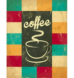 Retro Vintage Coffee Background vector image